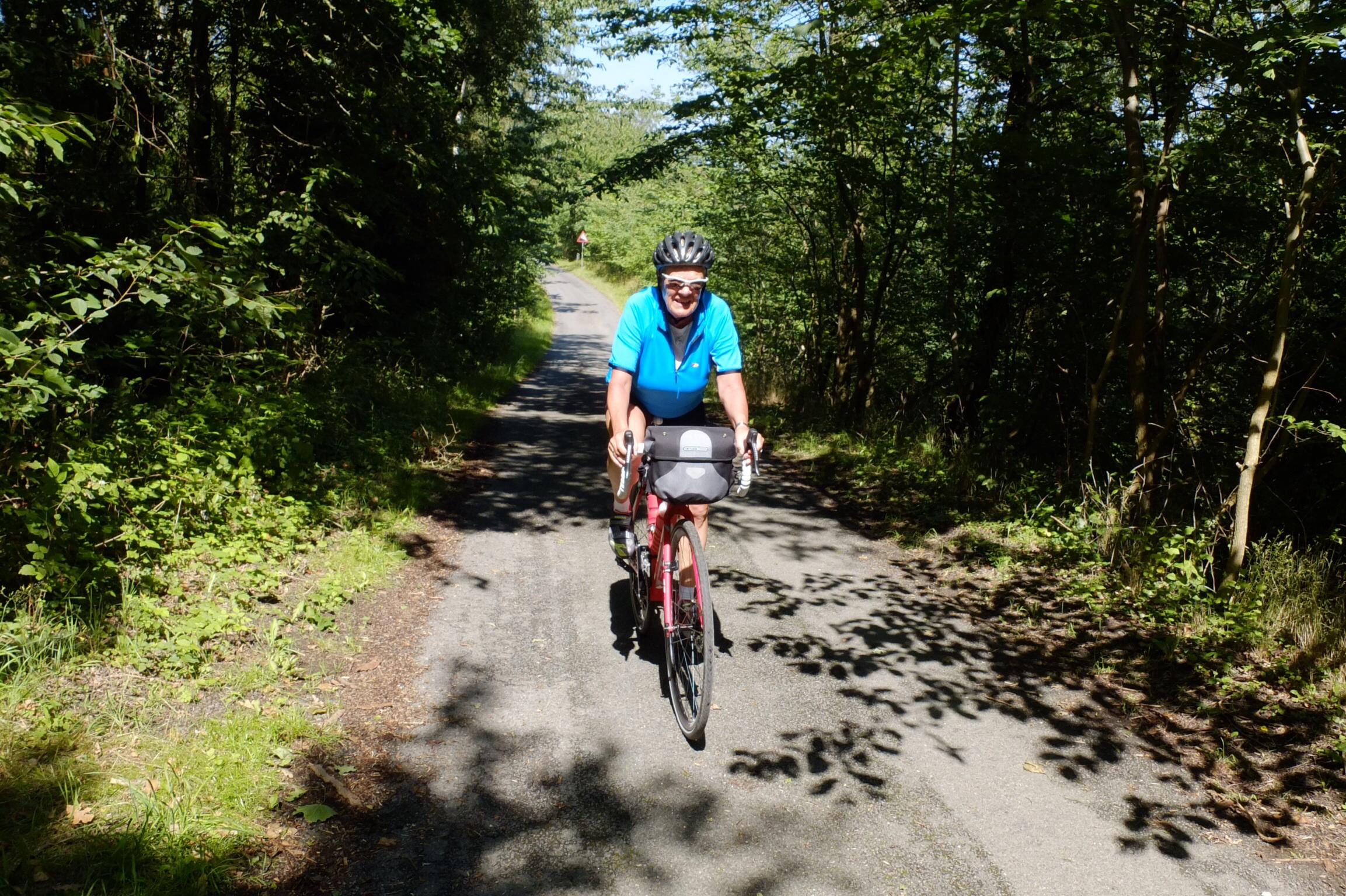 Cykelstier i smukke omgivelser, og stigninger på op til 15% - tak!!!