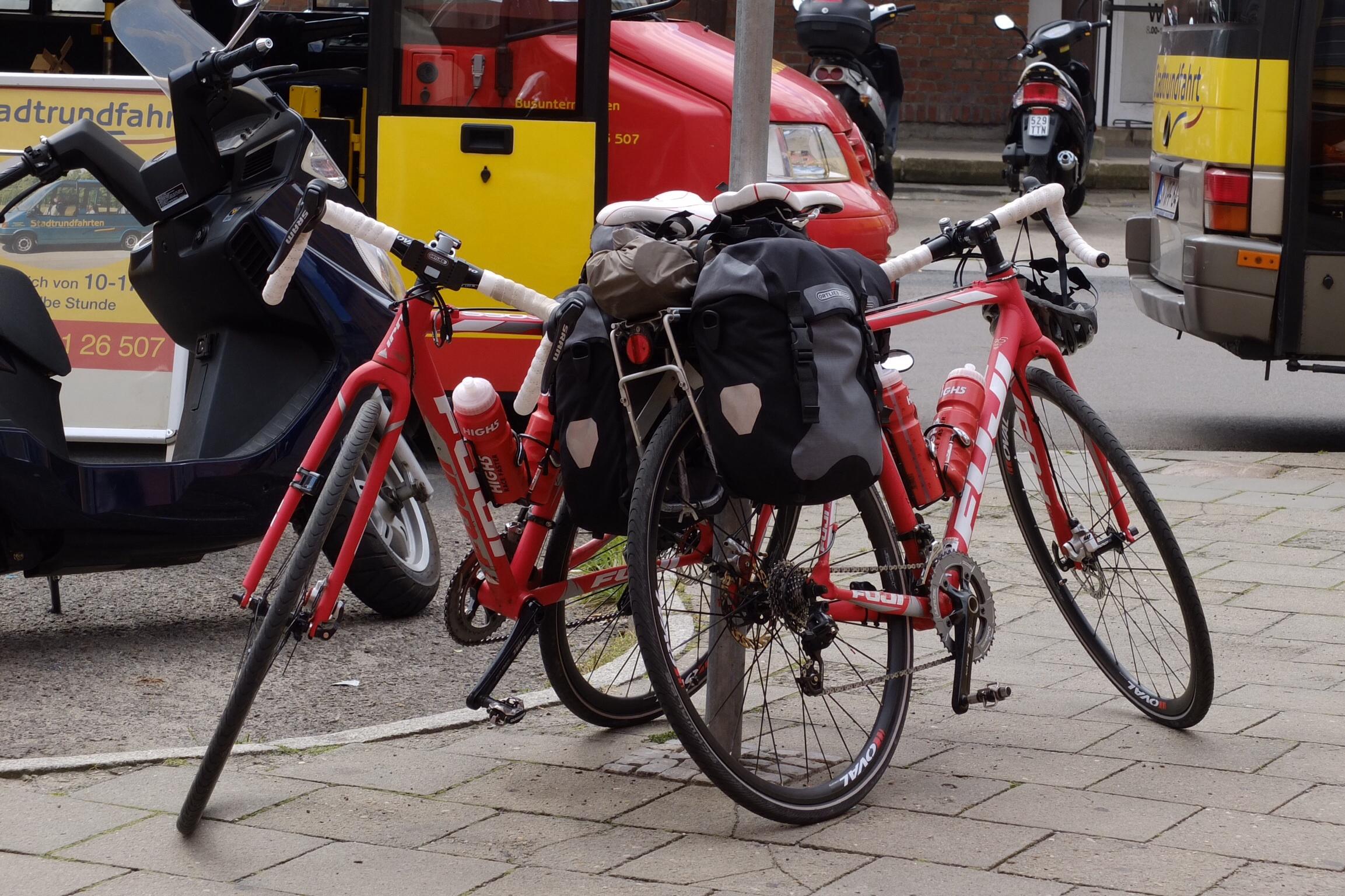 Også pause til cyklerne....